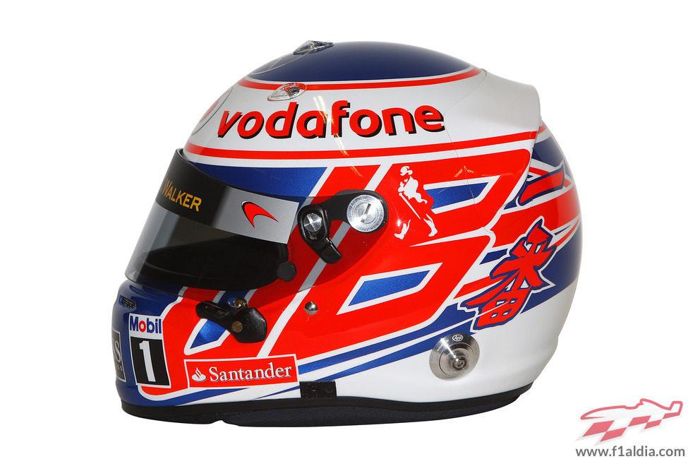 Casco de Jenson Button para 2013