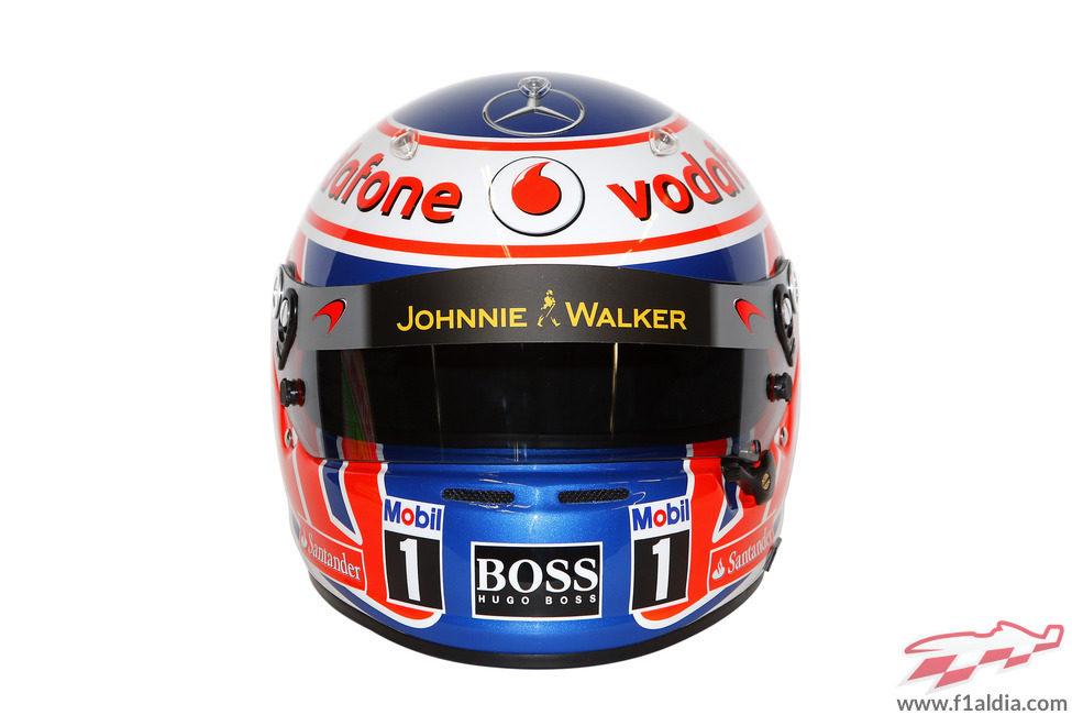 Casco de Jenson Button para 2013 (frontal)