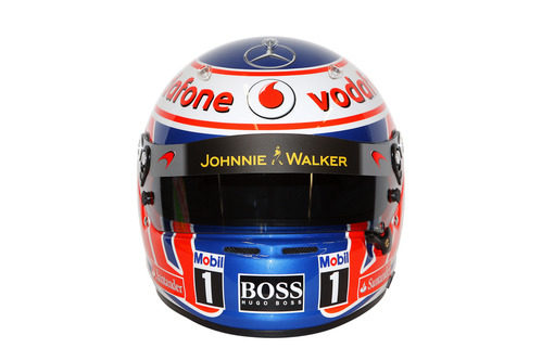 Casco de Jenson Button para 2013 (frontal)
