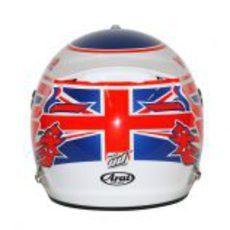 Casco de Jenson Button para 2013 (trasera)