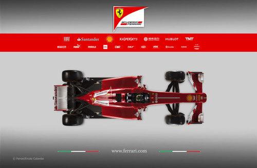 Ferrari F138 en vista superior