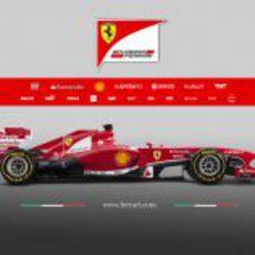 Ferrari F138 en vista lateral