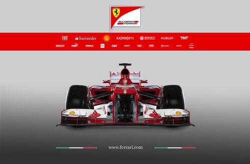 Ferrari F138 en vista frontal