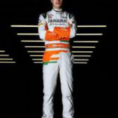Paul di Resta en la presentación del Force India VJM06