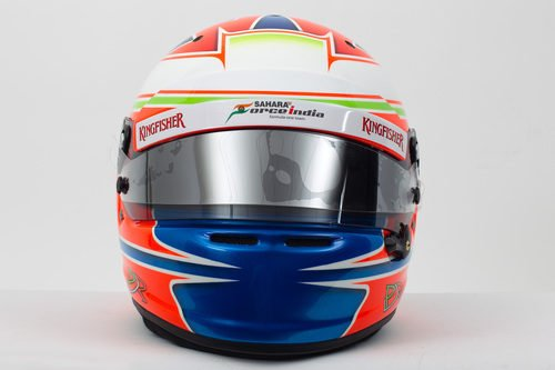 Casco de Paul di Resta para 2013 (frontal)