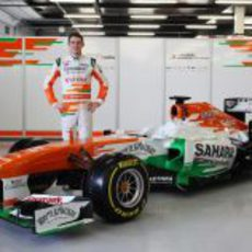 El Force India VJM06 y Paul di Resta en Silverstone
