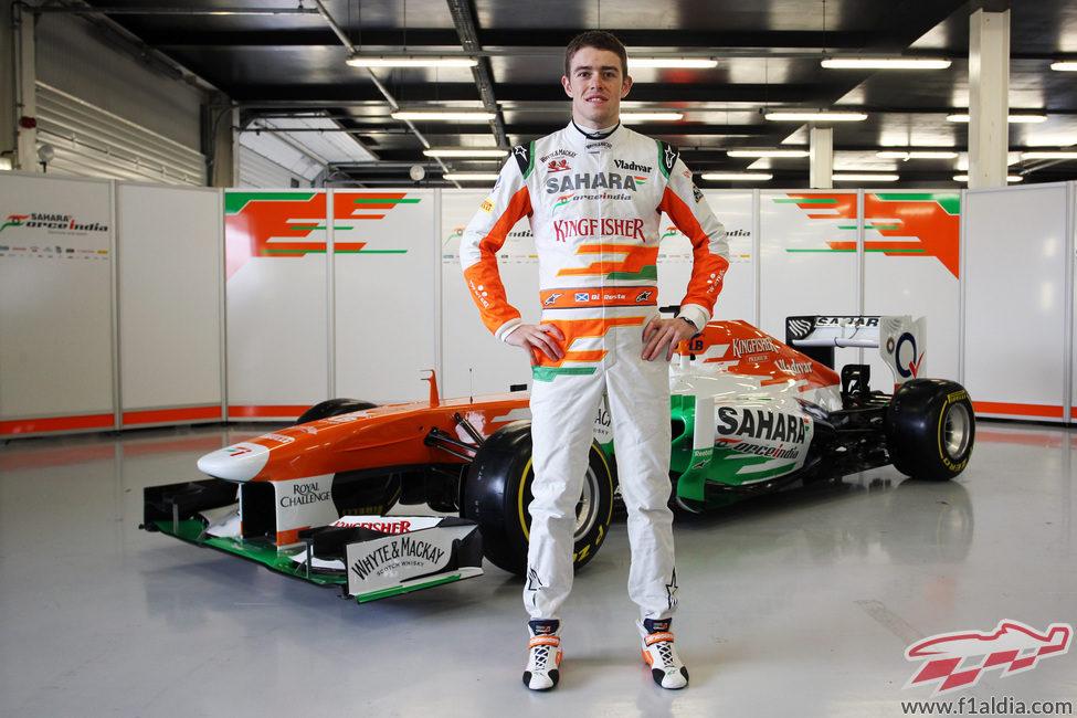 Paul di Resta, único piloto en la presentación del Force India VJM06