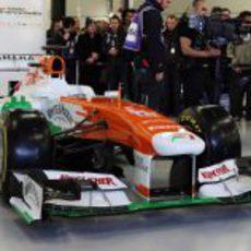 Así es el Force India VJM06, presentado públicamente en Silverstone