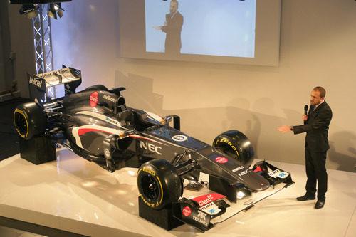 El Sauber C32 de 2013, presentado en sociedad en Hinwil