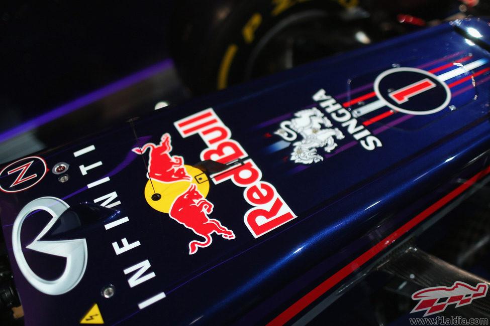 Detalle de la parte delantera del nuevo Red Bull RB9