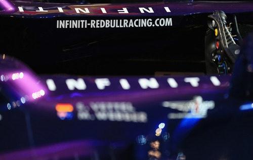 Detalle del 'cockpit' del nuevo Red Bull RB9 en su presentación