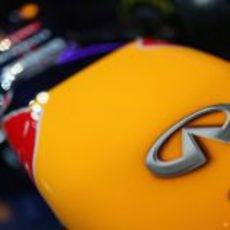Detalle del morro escalonado del Red Bull RB9