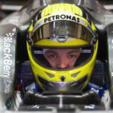 Nico Rosberg se puso al volante del Mercedes W04 en Jerez