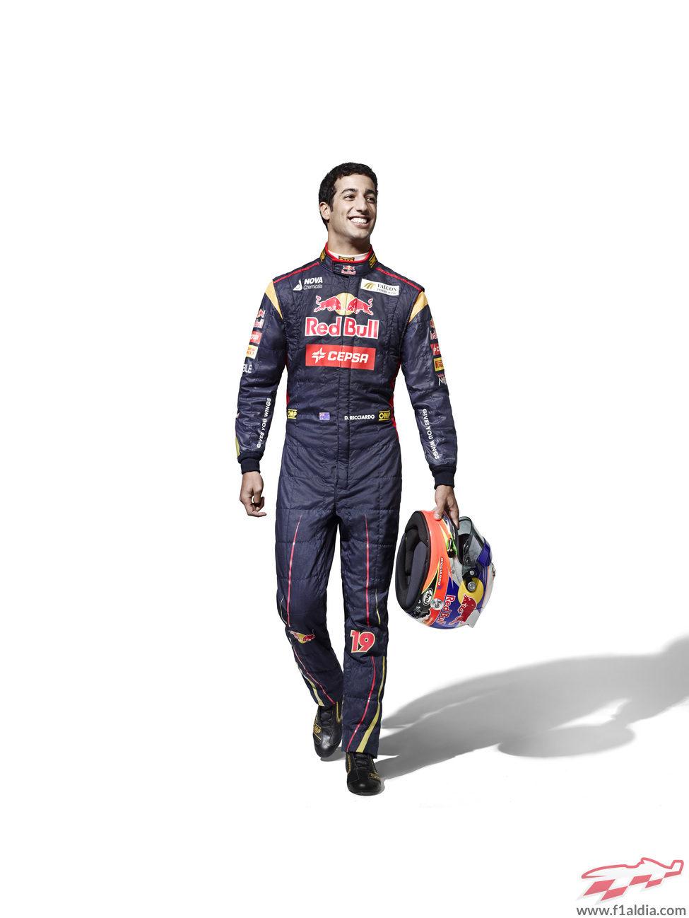 Daniel Ricciardo, piloto de Toro Rosso en la temporada 2013