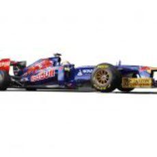 STR8, el Toro Rosso de 2013 en vista lateral
