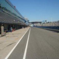 Pit-lane del circuito de Jerez