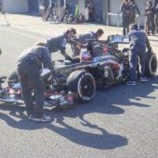 Nico Hülkenberg pilota por primera vez el Sauber C32