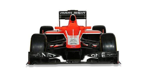 MR02, el nuevo Marussia de 2013 en vista frontal
