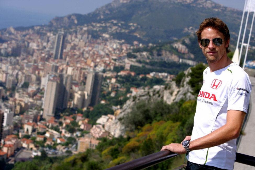 Jenson Button en Mónaco