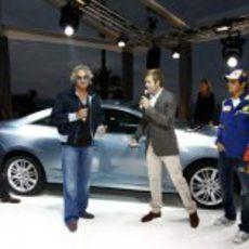 Briatore y Piquet presentan el nuevo Laguna