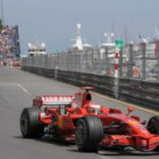 Kimi Räikkönen en la clasificación del GP de Mónaco 2008