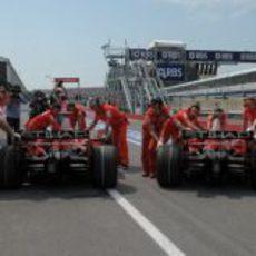 Raikkonen y Massa