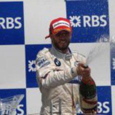 Nick Heidfeld en el podio de Canadá