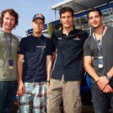 James Blunt, Vettel, Webber y Jesse Metcalfe
