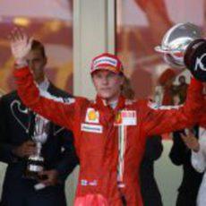 Räikkönen en el podio del GP de Mónaco 2009