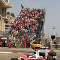 Las gradas del GP de Mónaco