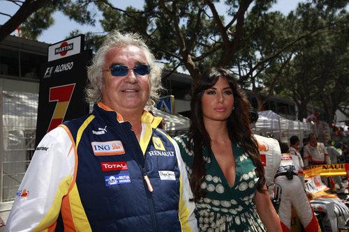 Briatore y su mujer en Mónaco