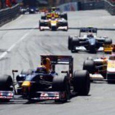 Webber presionado por Alonso