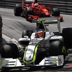Barrichello y Raikkonen
