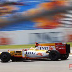 Alonso durante los libres del viernes