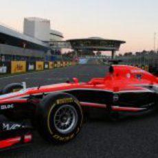 Marussia MR02, presentado en Jerez antes de los primeros test