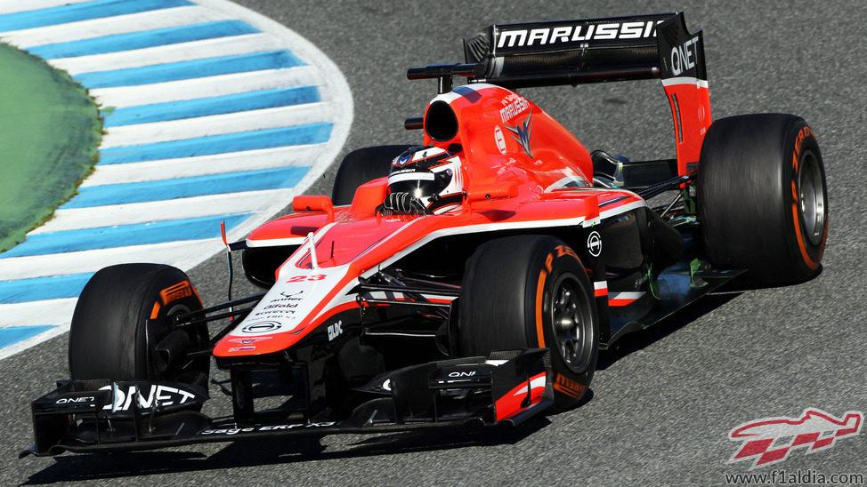 El Marussia MR02 se estrena en Jerez