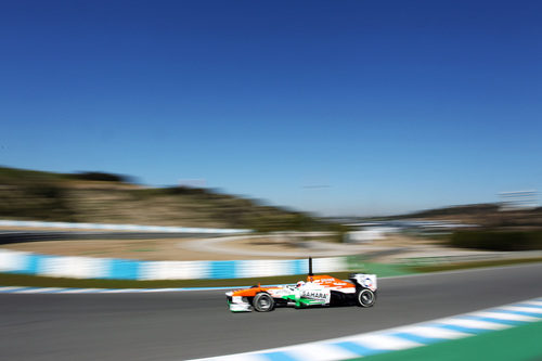 Paul di Resta, el único piloto de Force India, en Jerez