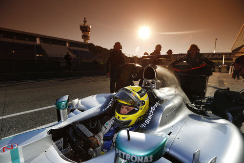 Nico Rosberg en el estreno del Mercedes W04