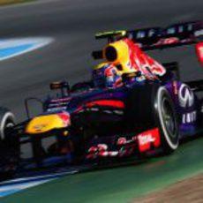 Mark Webber completa su programa de test en Jerez
