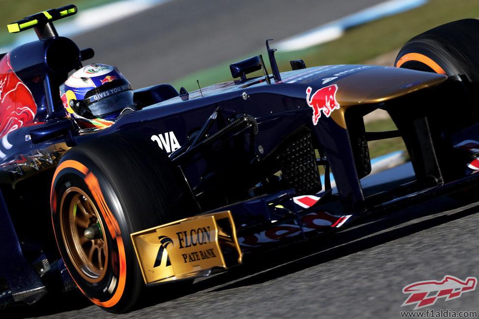 Plano del STR8 de Daniel Ricciardo en Jerez
