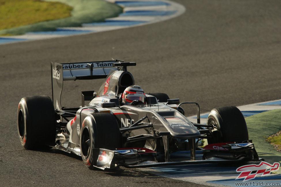 Nico Hülkenberg rueda en Jerez con su nuevo monoplaza