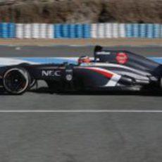 El nuevo Sauber C32 rueda con Nico Hülkenberg