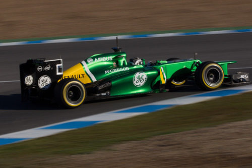 Giedo van der Garde rueda en Jerez con el nuevo CT03