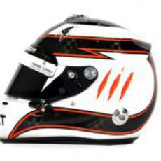 Vista lateral del casco de Max Chilton