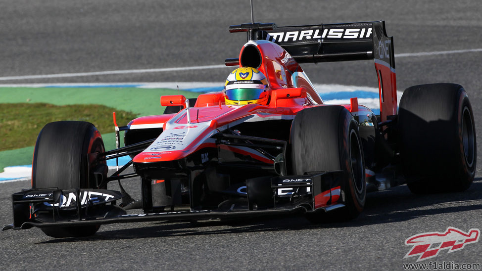 Luiz Razia se estrena con el MR02 en Jerez