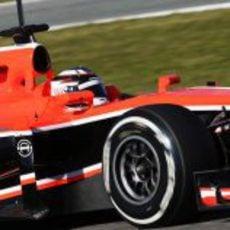 Max Chilton probando en Jerez