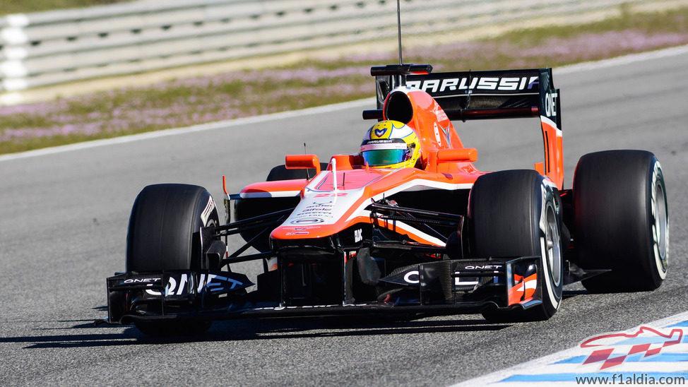 Luiz Razia en los entrenamientos de Jerez