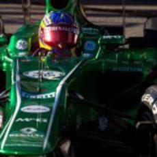 Bonita imagen de Charles Pic rodando en Jerez