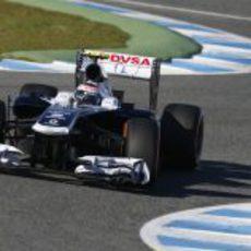 Valtteri Bottas rueda en Jerez