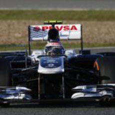 Sensores en los pontones del Williams FW34